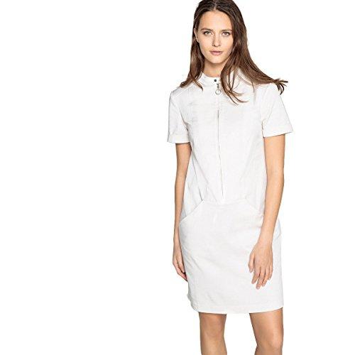 50 Reissverschluss Ecru Vorne Collections Redoute Gerade La Frau Form Kleid U7nq4w
