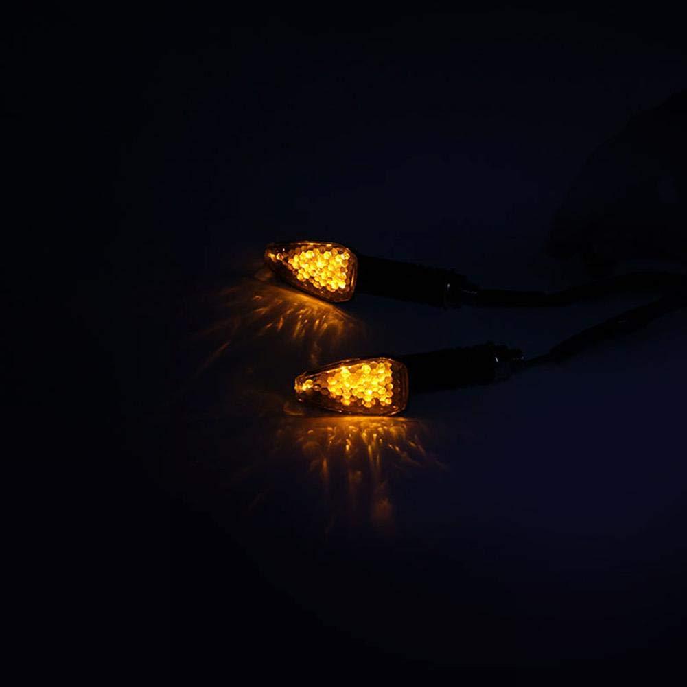 Calistouk 2 Unids//Set Motocicleta Delantero Trasero Luz de Se/ñal de Direcci/ón L/ámpara Super Brillante Impermeable LED ennegrecido