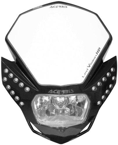 Acerbis 2144210001 LED Vision HP Black Headlight (Acerbis Atv)