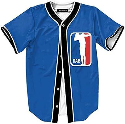 Raylans Camisa de béisbol casual para hombre con estampado floral 3D, de manga corta, con botones, Hombre, BRT-MC011-Color4-XL, Color4, UK L(Tag XL): Amazon.es: Deportes y aire libre