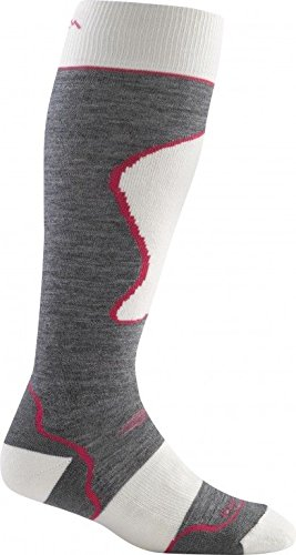 Darn Tough Merino Wool Alpine Ski Over-the-Calf Padded Cushion Sock - Women's Grey Medium