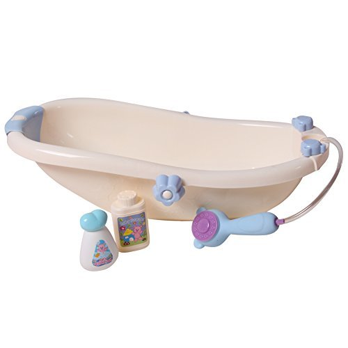 "Baby Whitney 16"" Bathtub & Baby Doll Essentials Accessory Set, White"