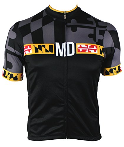 Jersey Maryland Cycling - Hill Killer Men's Maryland 'Blackout' Cycling Jersey (X-Large)