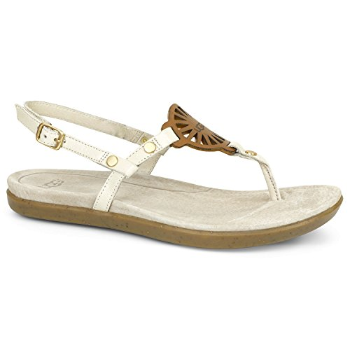 UGG Women's Ayden Thong Sandal,Seagull Leather,US 8 M Sea Thong Sandals