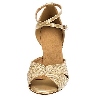 Gyldne Hæle latino Salsa guld nonpersonalizable Dansesko Hjul Zw08RXq0n