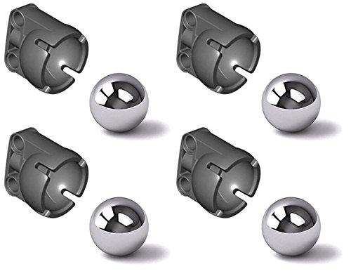 LEGO Technic NEW 4 STEEL PIVOT BALL + 4 STEERING JOINT SOCKET Caster 92911 99948