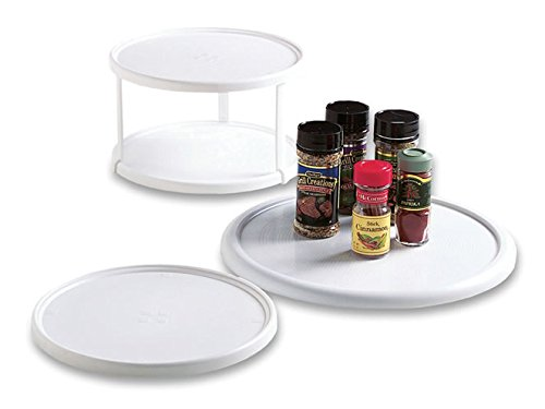 Rubbermaid Home 2303-RD-WHT Lazy Susan Turntable
