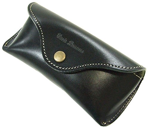 TCcase Co.,Ltd. Buttero Leather Hard Eyeglass Case With belt loop, Hook type,Black