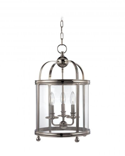 Larchmont 3-Light Pendant - Distressed Bronze Finish with Clear Glass Shade
