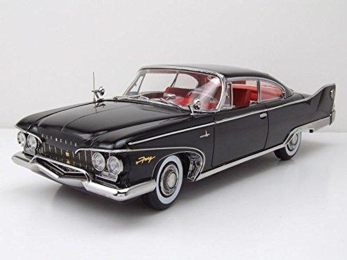1960 Plymouth Fury Hard Top Jet Black Platinum Edition 1/18 Diecast Model Car by Sunstar 5423
