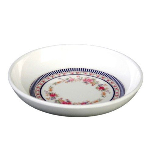 Thunder Group Asian Melamine Rose Sauce Dish, 2 3/4 inch - 60 per case. - Saucer Soup Cream Rose