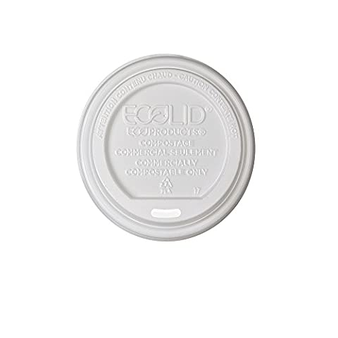 Eco-Products EPECOLID8 EcoLid Renewable & Compostable Hot Cup Lids, Fits 8oz Hot Cups (Case of 800) - Fits 8 Ounce Cups