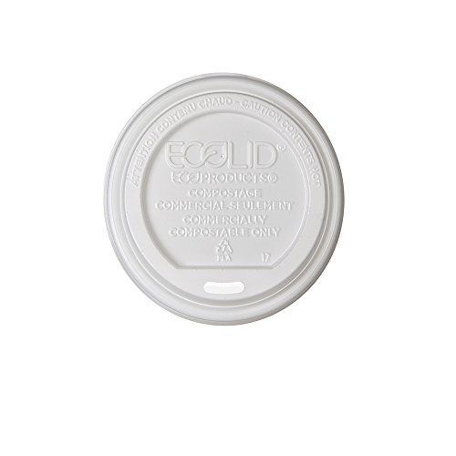 Eco-Products - Renewable & Compostable Hot Cup Lid - Fits 8oz Hot Cups - EP-ECOLID-8 (Case 800)