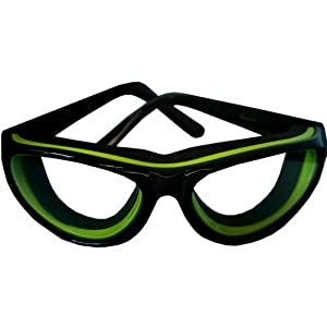RSVP Tearless Kitchen Onion Goggles, Black