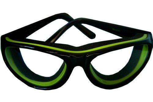 RSVP Tearless Kitchen Onion Goggles, Black (TEAR-BK)