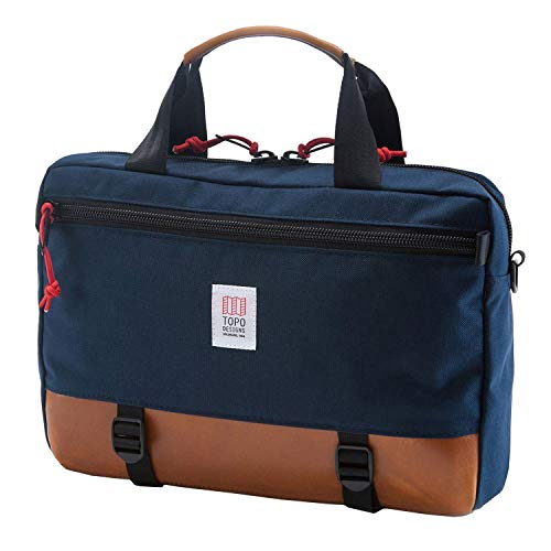 Topo Designs Commuter Briefcase Navy / Brown Leather One Size