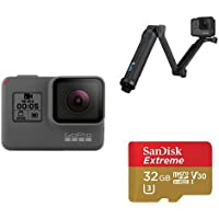 GoPro Hero 5 Black w/ 3-Way Grip and SD Card