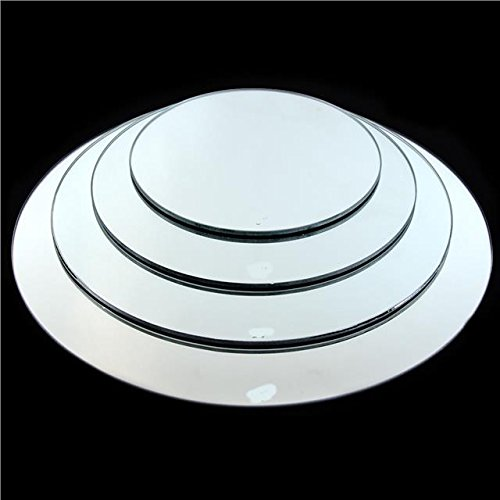 ASVP Shop Round 20, 25, 30, 40 or 50 CM Mirror Plates, Wedding Table Centrepiece (Circle 20cm)