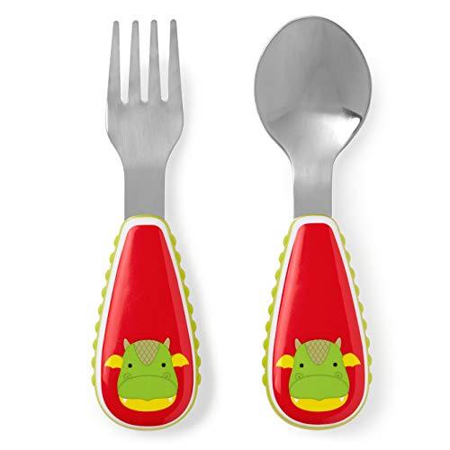 Skip Hop Toddler Utensils Fork & Spoon Set, Dragon]()