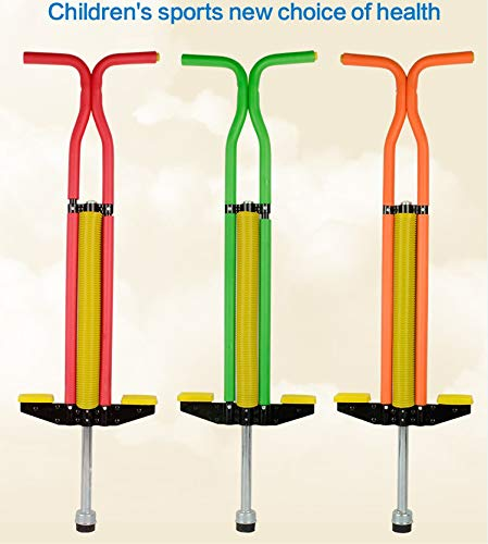 Pogo Stick Bouncing Sticks of and Sturdy Construction from 80lbs to 160lbs Weight for Adults and Children,Orange by SVNA (Image #2)