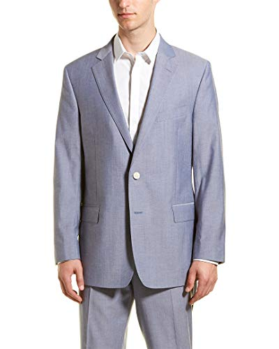Brooks Brothers Mens Regent Fit Wool-Blend Suit with Flat Front Pant, 40S, - Wool Brothers Brooks Suit