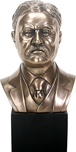 (Ebros Gift Bronzed Resin USA President Theodore Roosevelt Bust Figurine 26th President Republican Party)