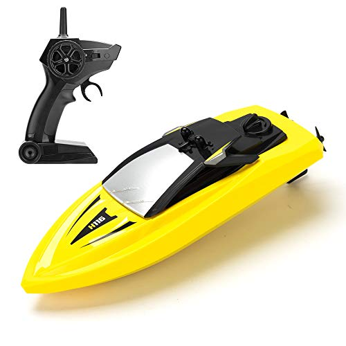 (RC Boat Remote Control Boats for Pools and Lakes, ROTOBAND H116 14km/h Self Righting High Speed Boat Toys for Kids Adults Boys Girls(Yellow))