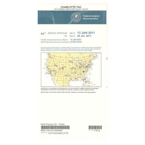 FAA Chart: VFR TAC CHARLOTTE TCHA (Current Edition)