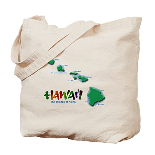 CafePress–Hawaii Islas–Gamuza de bolsa de lona bolsa, bolsa de la compra Medium caqui