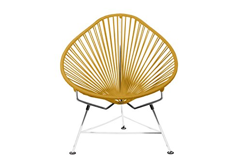 Innit Designs i01.03.13 Acapulco Chair-Caramel Weave on Chrome Frame, Blue Copper (Frames Chair Toronto)