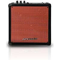 Wireless Portable Bluetooth PA Speaker System with Built-in Rechargeable Battery - Includes Wireless Mic MCP-50 Entertainment Medium Sized - Orange Grille by Pure Acoustics