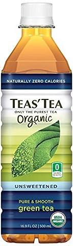 Teas' Tea Unsweetened Organic Green Tea, 16.9 Ounce (Pack of 12)