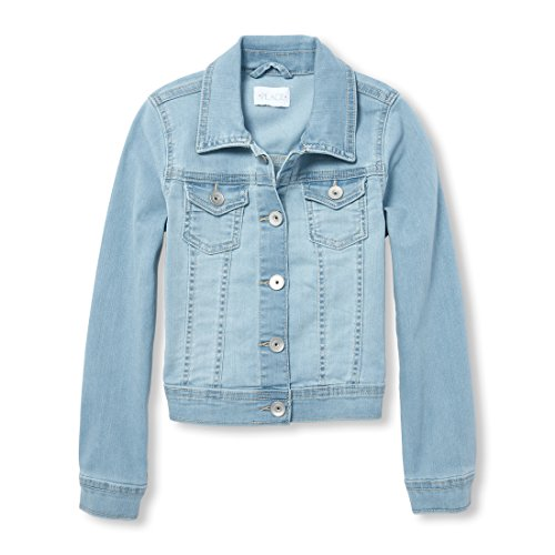 The Children's Place Big Girls' Denim Jacket, Light Linda Wash, XL (14) by The Children's Place