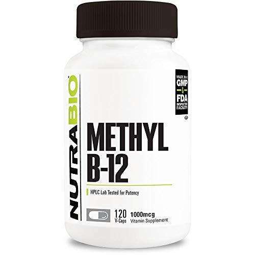 NutraBio Methyl B-12-120 Vegetable Capsules (1000mcg)