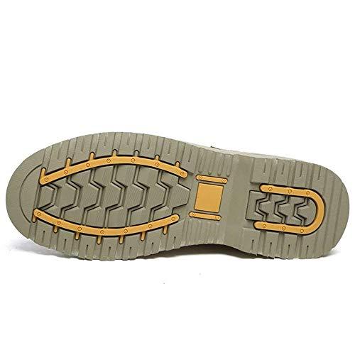 Lacets Fuxitoggo Casual Chaussures Vamp Splice Plat Noir Taille Eu Kaki Hommes 39 couleur Bottines Taille Pour Talon À 35 coloré Kaki rwxzvrfq0
