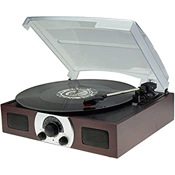 Digitnow Portable Belt Drive 3 Speed Stereo Turntable With Built In Dynamic Stereo  Speakers, Analog