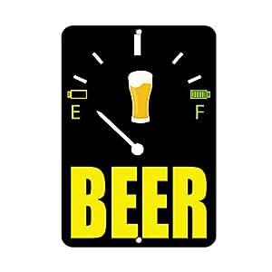 Cerveza Decoración del hogar signo cartel de metal para exterior Patio señal de seguridad