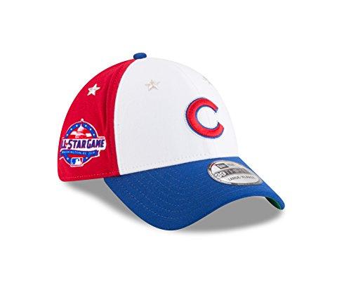 New Era Chicago Cubs 2018 MLB All-Star Game 39THIRTY Flex Hat - White, Blue