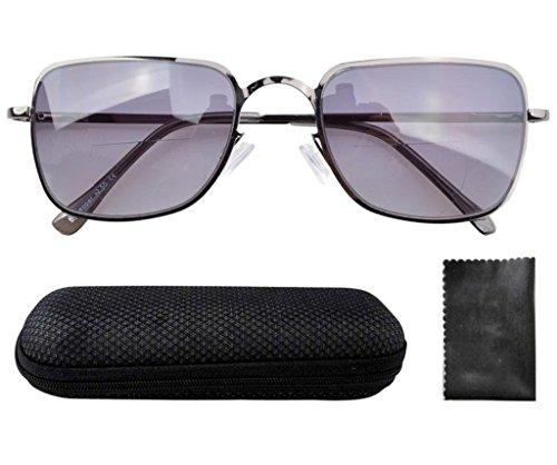 Eyekepper Spring Hinges Polycarbonate Lens Bifocal Glasses Sun Readers Men W/case - Sunglasses Walter White