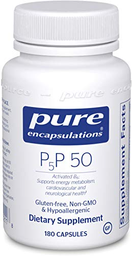 Pure Encapsulations - P5P 50 - Activated Vitamin B6 to Support Metabolism of Carbohydrates, Fats, and Proteins* - 180 Capsules (Vitamin B6 P5p)
