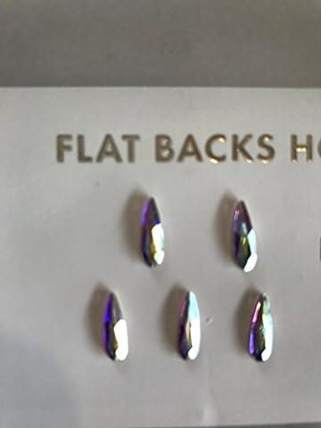 2304 raindrop flat back 10 x 2.8mm CRYSTAL AB 5pc - Ab Swarovski Crystal Drop Bead