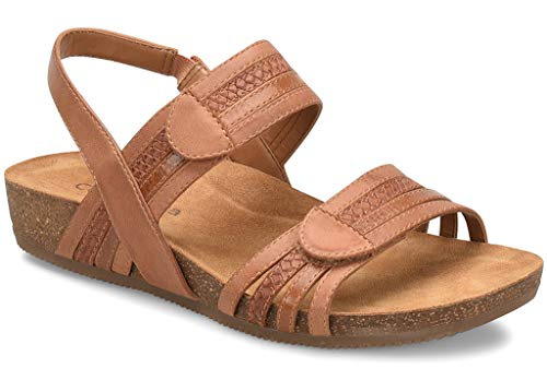 Comfortiva Women's, Gabrielle Low Heel Sandals TAN Multi 7 M from Comfortiva