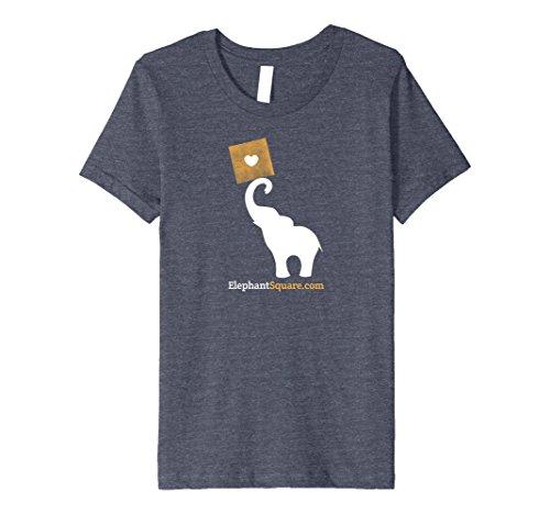 Kids Elephant Square Fine Art Gallery Logo Tee Shirt 12 Heather (Elephants Fine Art)