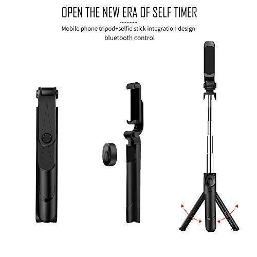 TimeLED Selfie Stick with Built-In Tripod Stand and Bluetooth Remote Shutter, Selfie Stick Tripod with Remote for iphone 7 plus 6 6s 8 Plus X Android Samsung Galaxy S7 S8 Plus Edge