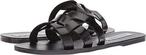 Black Leather Trendy - Steve Madden Women's Sicily Sandal, Black Leather, 9 M US