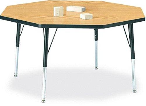 Jonti-Craft Ridgeline Octagon Kydz Activity Table w Powder-Coat Legs (15-24 in. H - Maple)