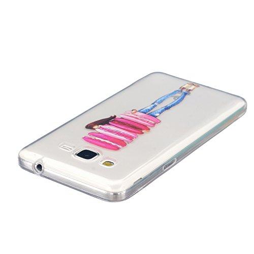 AllDo Funda Silicona para Samsung Galaxy S6 Edge Carcasa Protectora Funda Transparente Claro Caso Suave TPU Soft Silicone Case Cover Bumper Funda Ultra Delgado Carcasa Flexible Ligero Caja Anti Rasguñ Chica y Rosquillas