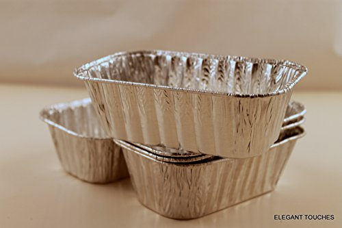 Set of 10 Mini Disposable Aluminum Foil Loaf Pans