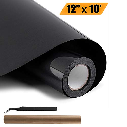 (Craft Adhesive Vinyl, VICBAY 12'' x 10'' PU Heat Transfer Vinyl for T-Shirts, Easy to Weed Iron On Vinyl for Home Iron On DIY T-Shirts, Heat Press Machine, Hats, Cups and Other Textiles )