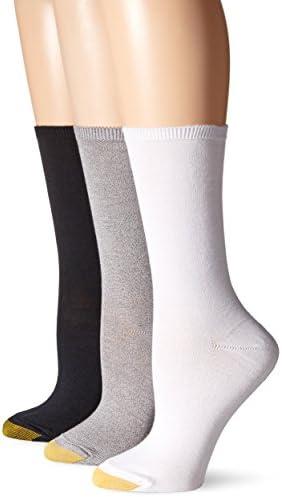 Gold Toe Women's Castaway Crew Socks, 3 Pairs